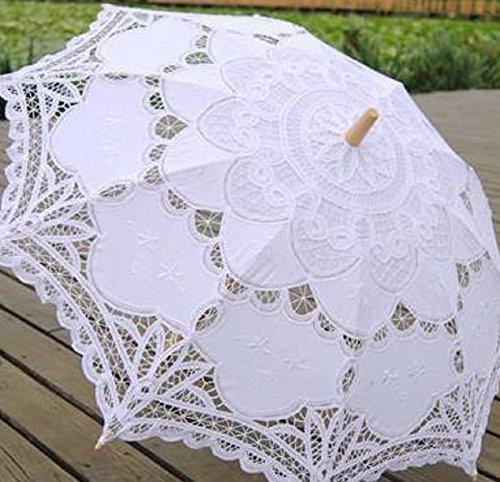 J'sselectレディース日傘レース刺繍(A:ホワイト)