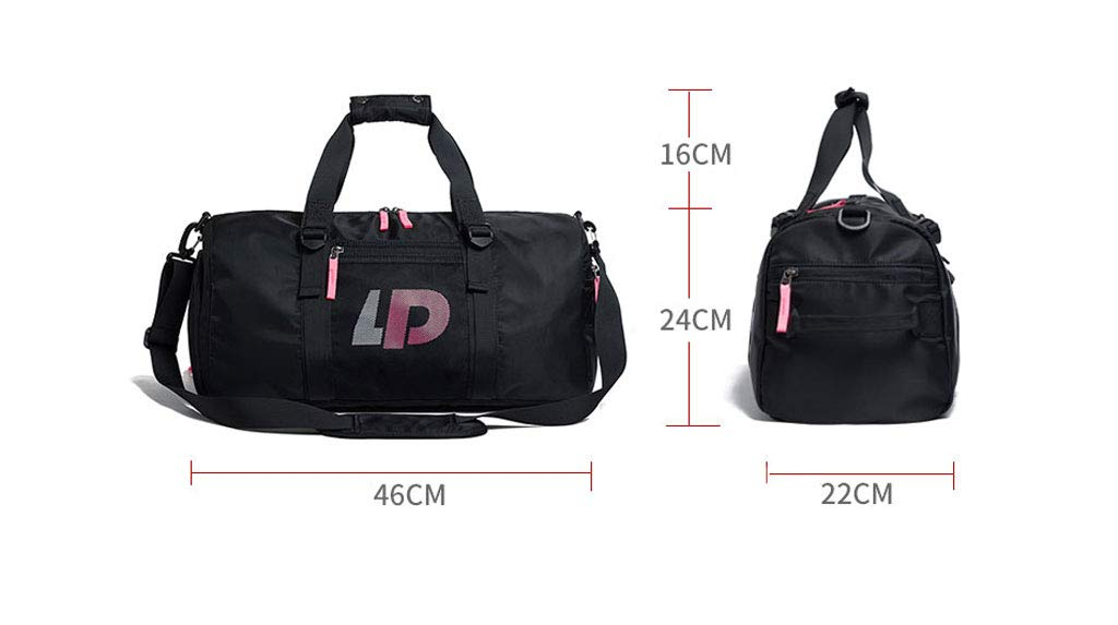 Color : Light Gray, Size : 46x24x22cm One-Shoulder Diagonal Travel Bag Fitness Bag Female Male Sports Training Package Dry and Wet Separation Yoga Swimming Handbag ZXW Travel Bag