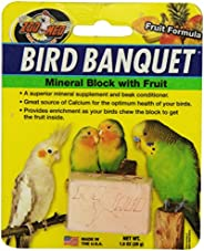 Zoo Med Laboratories BZMBBFS Bird Banquet Fruit Mineral Block, Small