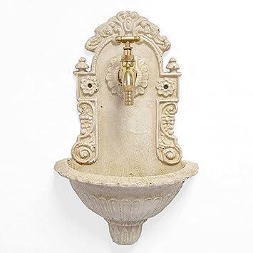 Zeitzone Kleiner Wandbrunnen Nostalgie Waschbecken Antik Stil