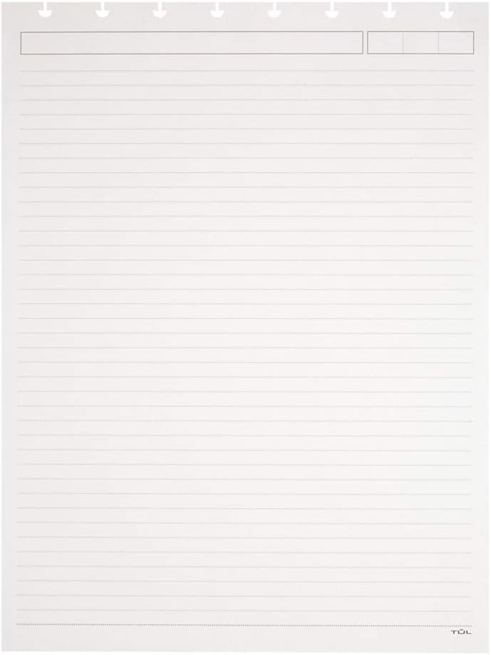 TUL Top-Bound Discbound Refill Pages, Letter Size, Narrow Ruled, 100 Pages (50 Sheets), White