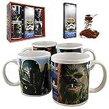 Disney Star Wars 4 Piece Ceramic Mug Gift Set with Chocolate Fudge Cocoa Mix