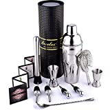 Image of Bartender Kit Shaker Set - Stainless Steel Bar Tools - In Gift Box - for the Best Cocktail Martini Margarita