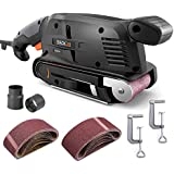TACKLIFE Classic Belt Sander 3 ×18-Inch with 13Pcs Sanding Belts, Bench Sander with Variable-speed Control, Fixed Screw Clamps, Dust Box, Vacuum Adapters, 10Feet(3M) Length Power Cord - PSFS1A