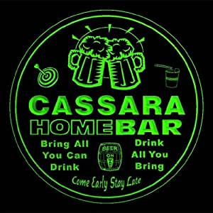 4 x ccq07286-g de la familia de la barra de inicio Pub CASSARA nombre de cerveza de club 3D prácticos de costa