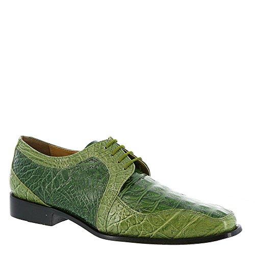 Giorgio Brutini Men's Heft Half Mudguard Fashion Oxfords, Olive, Rubber, 9.5 M (Dress Green Shoes)