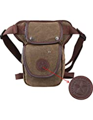 Genda 2Archer Canvas Vintage Shoulder Bag Multi-purpose Leg Bag