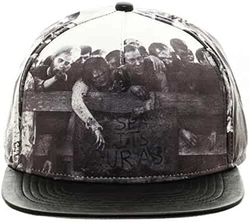 186a14f51bf54 Bioworld AMC The Walking Dead Sublimated All Over Print PU Faux Leather  Snapback