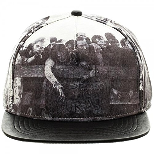 AMC The Walking Dead Sublimated All Over Print PU Faux Leather Snapback - The Walking Dead Hats