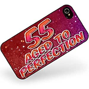 Rubber Case for iphone 4 4s 55 Years! Aged to Perfection, Happy Birthday - Neonblond