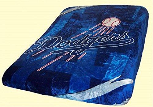 Los Angeles Dodgers Blanket - King Size Mink Raschel Plush 84 x 94 (Watch Series Mvp Nfl)