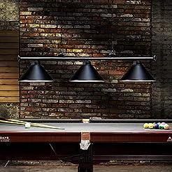 Wellmet 3 Light Pool Table Light, Vintag...