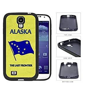 Alaska State Car Tag License Plate Design Yellow and Blue Hard Rubber TPU Phone Case Cover Samsung Galaxy S4 I9500
