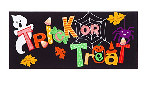 Everyday Is Halloween Trick Or Treat (Trick or Treat Decorative Mat Insert for Halloween, 10 x 22)