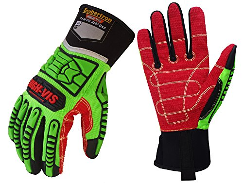 Seibertron HIGH-VIS HDC5 Level 5 Cut Resistant Deckhand Gloves High Performance Protection Impact Resistant Oil and Gas Safety Gloves CE EN388 4543 L
