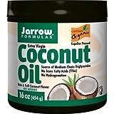 Jarrow Formulas Coconut Oil 100% Organic, Supports Cardiovascular Health, Extra Virgin, 16 Ounce