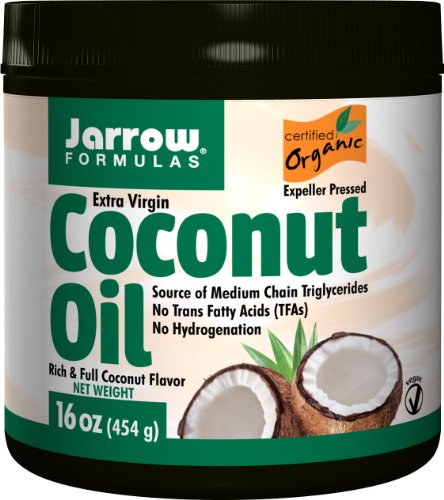 Jarrow Formulas Coconut Oil 100% Organic, Supports Cardiovascular Health, Extra Virgin, 16 (Formulas Organic Coconut Oil)
