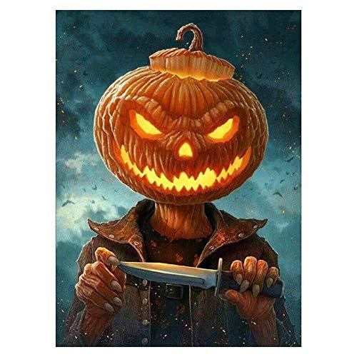 VKTECH Halloween Pumpkin Head Man Full Drill 5D