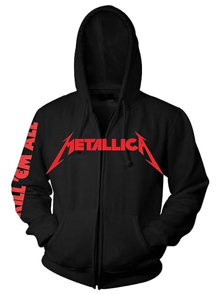 Con Amazon Felpa Metallica Cappuccio Abbigliamento it Uomo 5wxAw7pTBq