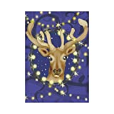InterestPrint Christmas Reindeer Polyester Garden Flag Outdoor Banner 28 x 40 inch, Winter Deer Decorative Large House Flags for Party Yard Home Decor For Sale