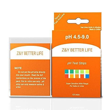 Amazon.com: z & y vida mejor Tiras test de pH 150 ct ...