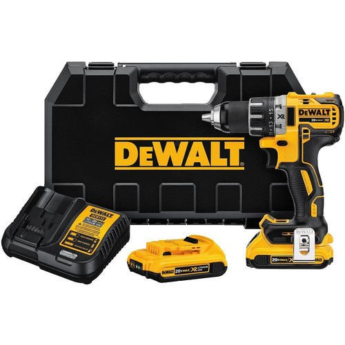 "Dewalt 20V MAX XR 2.0Ah Li-Ion Brushless 0.5"" Cordless Compact Drill Driver Kit (Certified Refurbished)"