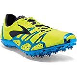 Brooks 2 Qw-k Unisex Track Running Spike Shoes, Nightlife/Brooks Brite Yellow Blue/Black Mens