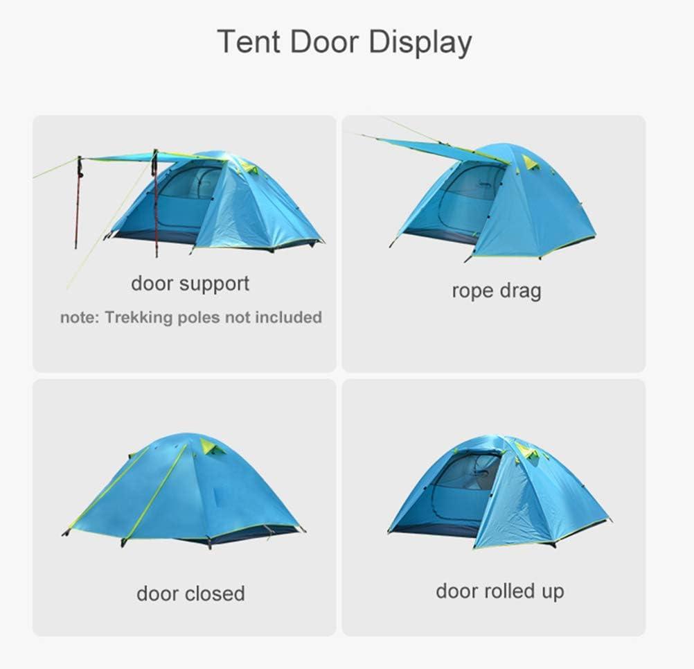 Draagbare Aluminium Stokken Reistenten Backpacken Kampeertent, Lichtgewicht 1-3 Persoons Tent Dubbellaags Waterdicht orange