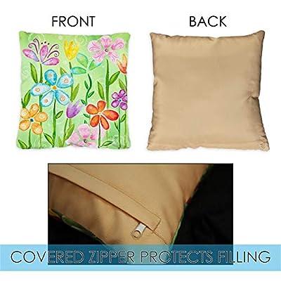 Toland Home Garden 721201 Spring Blooms 18 x 18 Inch Indoor/Outdoor, Pillow with Insert (2-Pack) : Garden & Outdoor