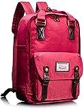 Leaper Multifunctional Waterproof Laptop Backpack School Bag Travel Rucksack Daypack (Red)