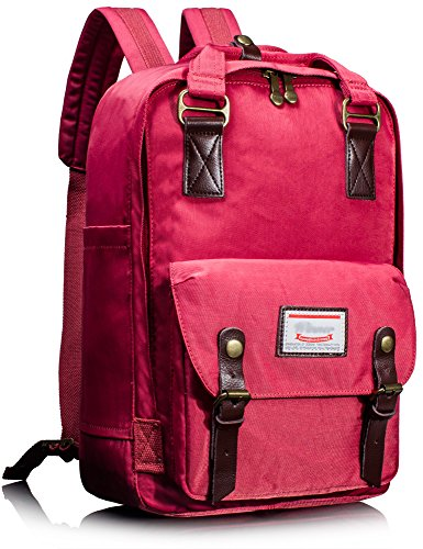 Leaper Multifunctional Waterproof Laptop Backpack School Bag Travel Rucksack Daypack (Red) by Leaper