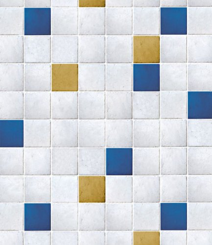 Magic-fix Peel & Stick Mosaic Tile pattern Textured Vinyl Contact paper Wallpaper Shelf Liner Table and Door Reform (DPS-51 : 1.64 feet X 9.84 feet)
