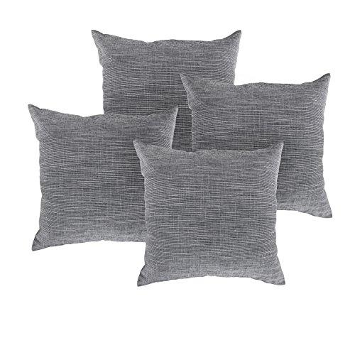 Deconovo Woven Linen Pillow Case Cover Pattern Pillow Cover