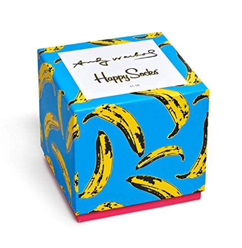 Happy Socks Andy Warhol Collection Colorful Cotton Dress Socks in Gift Box, Set of 4