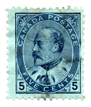 - Canada Postage Stamp Single 1903 King Edward VII Issue 5 Cent Scott #91