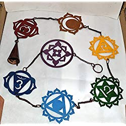 7 Chakra with 7 Color Iron Hanging for Wall Decor/Yoga Singing Bowl Hanging