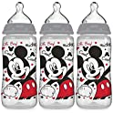 NUK 3-Pack of 10 Oz Mickey Mouse Smooth Flow Disney Bottle