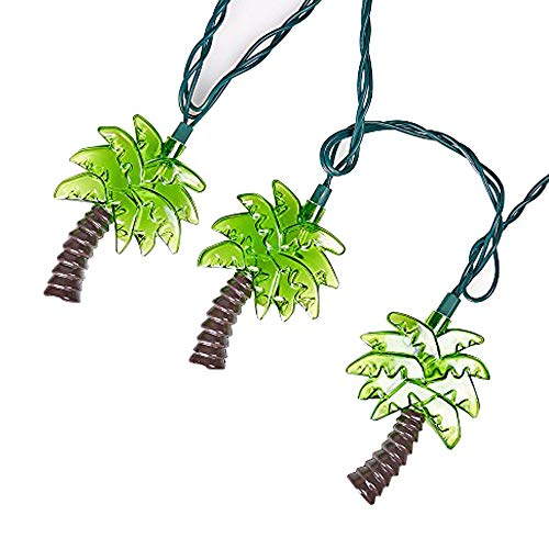 LIDORE Palm Tree String Lights. 10 Counts Warm White Light for Holiday and Party -