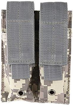 SHI-Y-M-QT, Nylon 600D táctico Dual Doble Pistola Revista Bolsa Cerrar Funda Exterior de Airsoft del Combate Militar 9MM