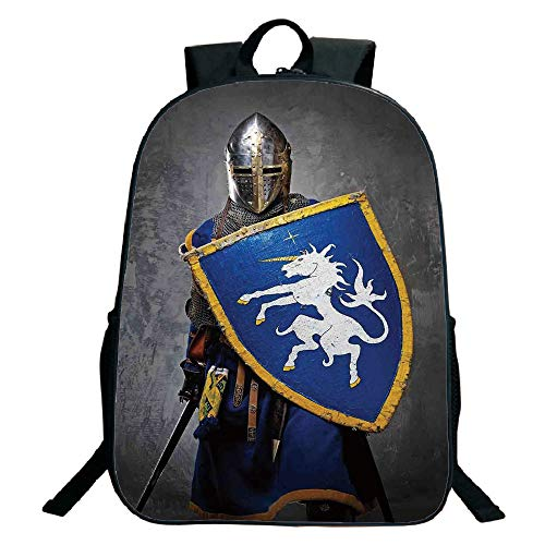 7ade8048cfc2 Galleon - 3D Print Design Black School Bag,backpacksMedieval ...
