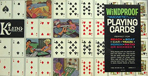 - Vintage Game -- Kling WINDPROOF Magnetic Steel Playing Cards -- as shown