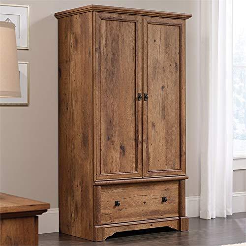 Sauder 420608 Palladia Armoire, L: 36.30'' x W: 21.42'' x H: 66.61'', Vintage Oak finish