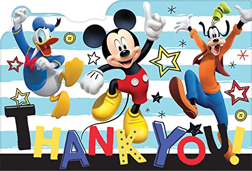 Amscan Mickey Mouse Party Supplies On The Go Thank You Cards (8)