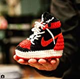 Handmade Air Jordan1 Newborn Crochet Knitted Sneakers - Newborn Baby Booties Girl & Boy Infant Knitting Slippers - Newborn Boy Gril Coming Home Outfit - Baby Shower Gifts - Crochet Soft Sole Shoes