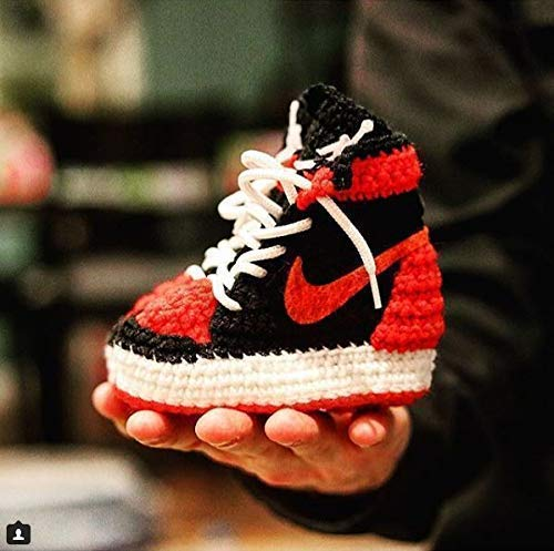 detailed pictures 12abd 103b2 Handmade Air Jordan1 Newborn Crochet Knitted Sneakers - Newborn Baby  Booties Girl & Boy Infant Knitting Slippers - Newborn Boy Gril Coming Home  Outfit ...