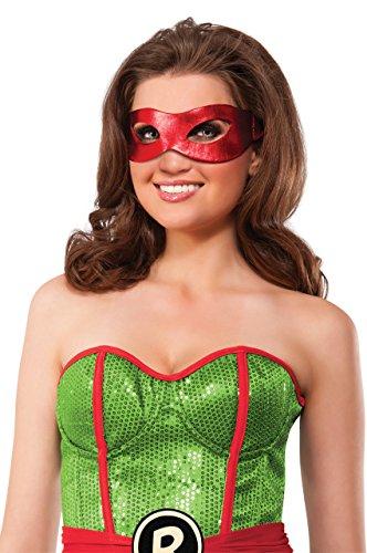 Rubie's Women's Teenage Mutant Ninja Turtles Classic Raphael Eye Mask, Red, One Size