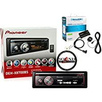 Pioneer DEH-X8700BS CD Receiver with Built in Bluetooth, SiriusXM SXV200V1 Tuner and Antenna with SOTS Air Freshner