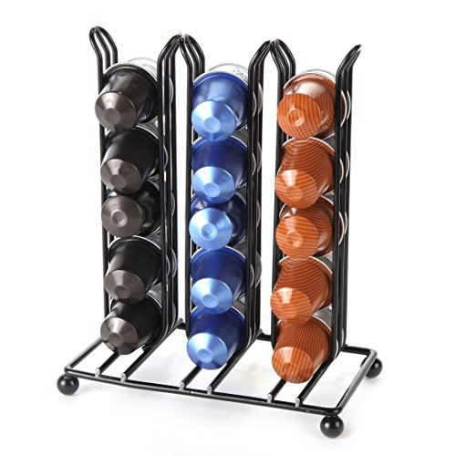 Lily's Home Counter Top Nespresso Coffee Capsules Holder. Holds 30 Nespresso Pods (Coffee pods are not included). (Capsule Top)