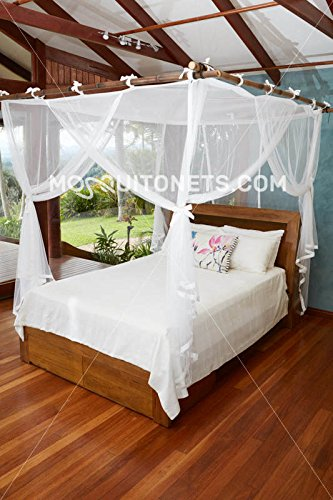 Mosquito NET Bed Canopy | Queen Size Bed Net | Easy Care Machine Washable Mosquito Netting | Secure Insect Protection with The Designer Mosquito net by MosquitoNets (Image #7)