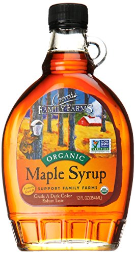 Coombs Family Farms Maple Syrup, Organic Grade A, Dark Color, Robust Taste, 12oz (Maple Organic Syrup Pure)